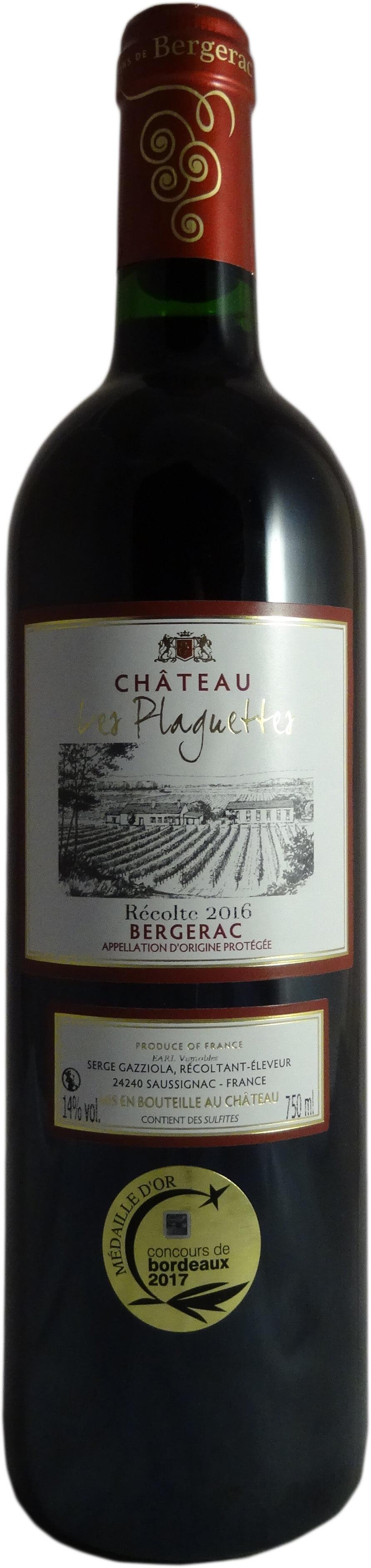 bergerac rouge plaguettes